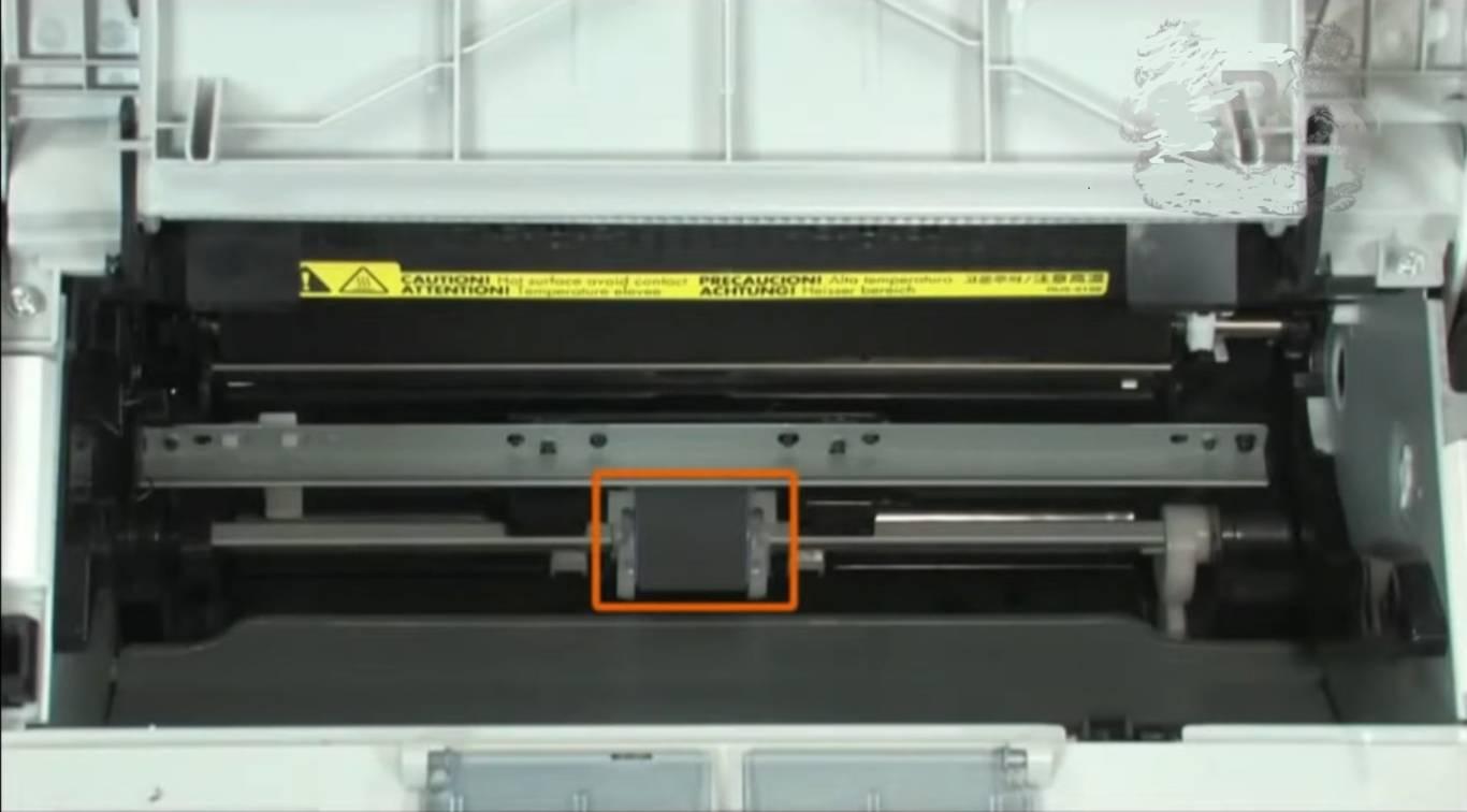 Фото Если при печати появляются черные полосы - очистите ролики