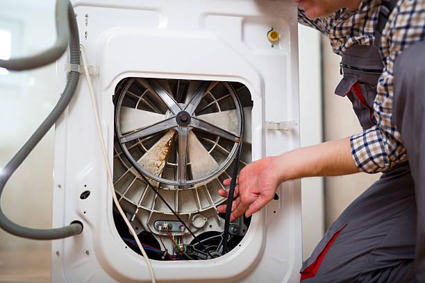 Фото не крутится барабан в стиральной машине - проверьте натяжение ремня