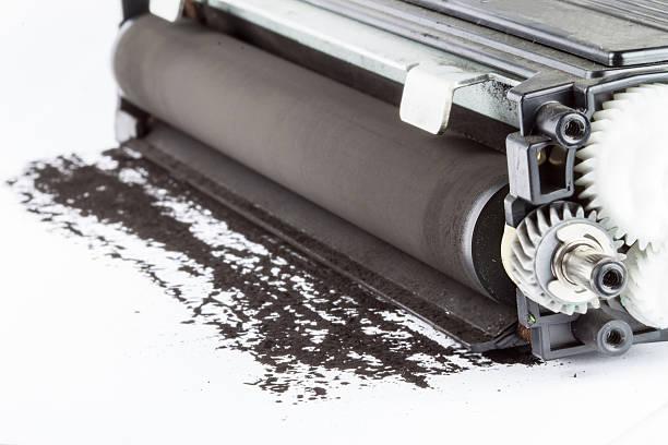 Фото Почему плохо печатает лазерный принтер - грязные составные части