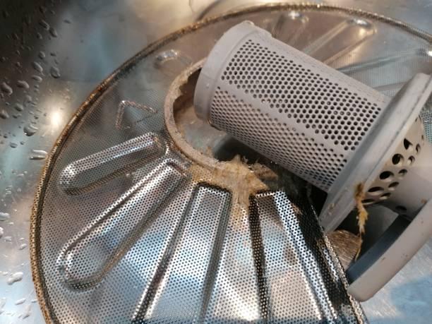 Фото Посудомойка не сливает воду - необходима чистка фильтров